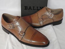 MENS Bally SCRIBE Tan Calf Leather Doublemonk Shoes UK 10 E USA 11 D  RRP £650