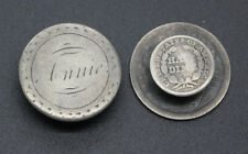 SEATED LIBERTY QUARTER AND HALF DIME LOVE TOKEN CUFF LINKS
