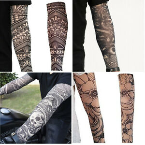 Temporary Tattoos Sleeves Slip on Elastic Nylon Stocking Fake Arm Leg Tattoo