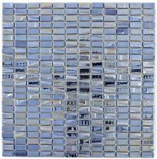 Mosaico Tessere riciclaggio VETRO rettangolo nero metallico 3D 355-09_f|10foglie