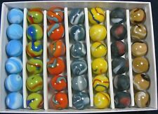 "MAJESTIC MARBLE COLLECTORS BOX SET OF 42 - 5/8"" MARBLES.  LIMITED EDITION!!!"