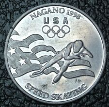 1998 US WINTER OLYMPIC TEAM SPEED SKATING MEDAL - Nagano - General Mills