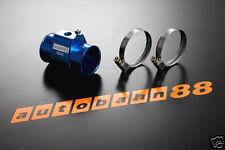"34mm 1.34"" 1/8 NPT Water temp Gauge Radiator Hose Sensor Adaptor Blue"