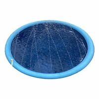Ganquer 59 Inch Splash Sprinkler Pad for Dogs Kids,Thickened Durable Dog Bath