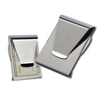 Pop Slim Steel Money Clip Double Sided Credit Card Holder Wallet Exquisite