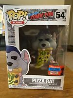 Funko Pop! AD ICONS - PIZZA RAT (Blue Hat) #54 *NYCC 2020 OFFICIAL STICKER*