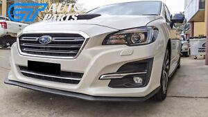 ST Style Front Bumper Lip Spoiler  for 14-17 Subaru LEVORG STI Matte Black