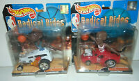 NBA HOTWHEEL RADICAL RIDE LOT MICHAEL JORDAN/Kevin Garnett CHICAGO Bulls Set NEW