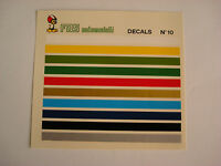 DECAL 1/43 BANDE COLORATE N.10