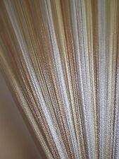 Cream Beige White String Panel Curtain Room Divider Door Hanging 1m x 2m Retro