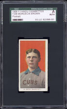 1909-11 T206 Mordecai Brown Portrait (Brown Hindu) SGC Authentic