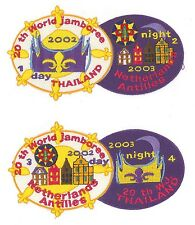 2003 World Scout Jamboree NETHERLANDS ANTILLES SCOUTS Contingent Patch (4 Badge)
