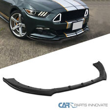 For 15-17 Ford Mustang Matte Black PP Front Bumper Lip Spoiler Body Kits 3PC