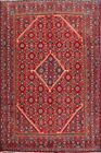 Vintage Geometric Mahal Traditional Area Rug Wool Hand-Knotted Oriental 7'x10'