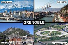 SOUVENIR FRIDGE MAGNET of GRENOBLE FRANCE
