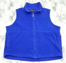 Lands' End VTG Blue Fleece Zip Front Women's Vest Size Large Regular 14-16