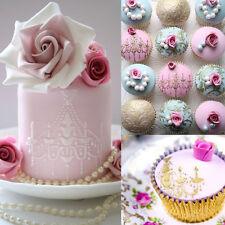3x Chandelier Lace Wedding Cake Cookie Fondant Baking Stencil Decorating Tool SE