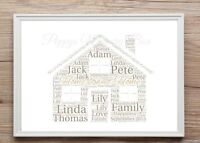 Personalised New Home House Word Art Gift Keepsake House Warming Print