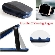 Car Auto SUV Phone Mount Holder Dock Dashboard Stand 2 Viewing Angles Plastic