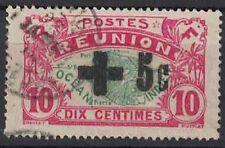 REUNION - N°80 - SURCHARGE CROIX ROUGE - OBLITERE - COTE 134€.