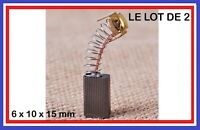 Lot de 2 Balais de Charbon MAKITA CB 103 6 x 10 x 15 mm Moteur perceuse electrop