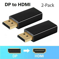 Display port DP to HDMI Adapter 1080p Displayport to HDMI Female Converter 2Pack
