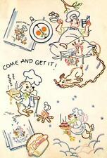 Apron pattern with Chef Dog stealing food 7291 repo Iron on Embroidery Transfer