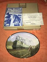 Davenport The Silver Jubilee Train Collectors Plate Malcolm Root Record Breakers