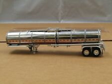 1/64 Dcp silver/stainless simulated rib tandem axle tank trailer new no box