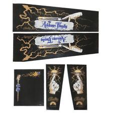 Addams Family GOLD Pinball Machine CABINET Decal Set