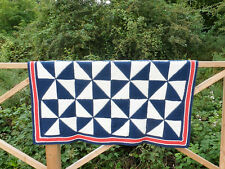 Nautical Pinwheel Patchwork Afghan Throw Knitting Pattern