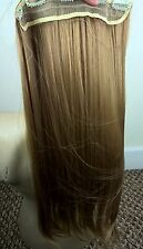 "Dark blonde 5 clips one piece straight 22"" long clip in on hair extension"