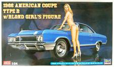 Hasegawa SP413 1966 American Coupe Type B w/Blonde Girls Figure 1/24  Scale Kit
