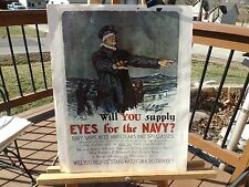 "PRINT OF WWII NAVY RECRUITMENT POSTER NAMED ""WILL YOU SUPPLY EYES FOR THE NAVY"""
