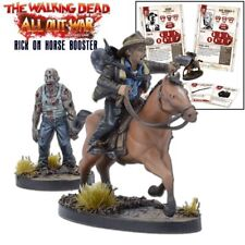 The Walking Dead Rick on Horse Booster Englisch All Out War Mantic Games Zombie