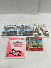 Lot of 5 Nintendo Wii Video Games-Not Tested
