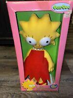 "The Simpsons ~ Vtg 16"" Lisa Simpson Rag Doll 1990's Dan Dee NOS New"