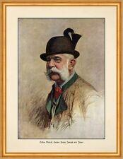 Kaiser Franz Joseph als Jäger Oskar Brüch K&K Hut Gamsbart Tracht D 94 A2