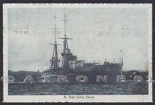 CORAZZATA GIULIO CESARE 04 NAVE MARINA DA GUERRA SHIP Cartolina viaggiata 1914