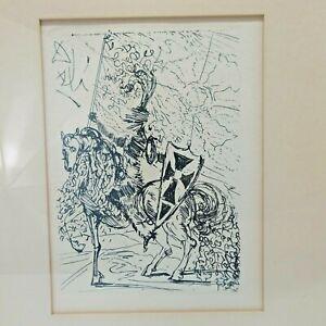 Original Salvador Dali Etching El Cid Collector's Guild Vintage with COA Art
