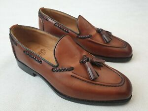 Trickers Sloane Brown Leather Slip on Loafer Shoes Made in England UK 7.5 £345