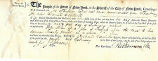 Revolutionary War Robert Benson Rare Signed Court Warrant Sheriff Of New York