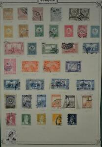 TURKEY STAMPS GOOD SELECTION ON UNPICKED ALBUM PAGE (G83)