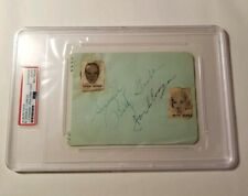 Betty Grable Jackie Coogan Dual Signed PSA DNA Autograph Auto Husband + Wife