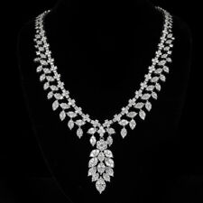 Gorgeous 18k White Gold Multi Shape 18.83CT Diamond Necklace