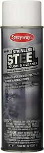 Sprayway Stainless Steel Cleaner 15 oz 2 Cans