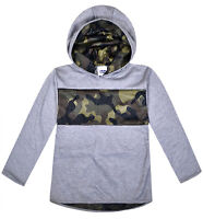 Boys Camo Jumper Kids New Green Grey Long Sleeve Hoodie Top Ages 2 3 4 5 6 Years