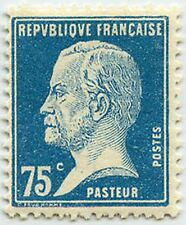 "FRANCE STAMP TIMBRE 177 "" TYPE PASTEUR , 75 C BLEU "" NEUF x TB"