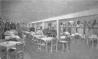 Buckhorn Interior Restaurant Long Lake Minnesota 1940s Postcard 5956