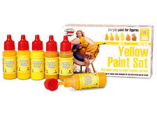 Andrea Miniatures Yellow Acrylic Paint Set 6 Bottles